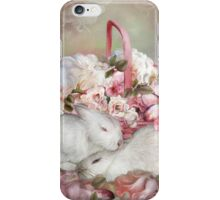 Easter Surprise - Bunnies And Roses iPhone Case/Skin