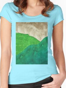 Highland Storm original painting Women's Fitted Scoop T-Shirt