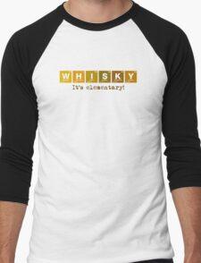 Whisky - It's Elementary! Men's Baseball ¾ T-Shirt