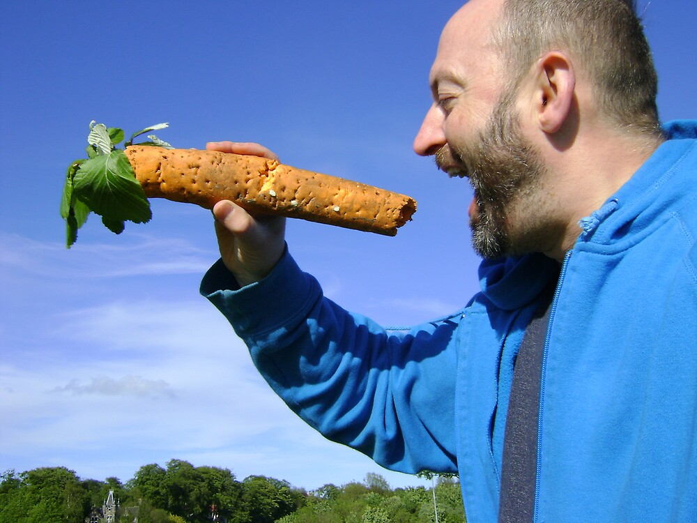 an unfeasibly large carrot by armadillozenith