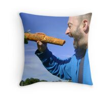 an unfeasibly large carrot Throw Pillow
