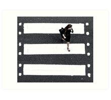 film crossing Art Print