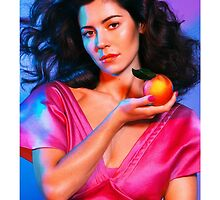 Marina & The Diamonds Peach Case by saulgalacticd