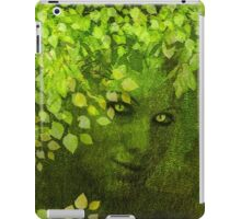 GREEN WOMAN SPRING COMING iPad Case/Skin