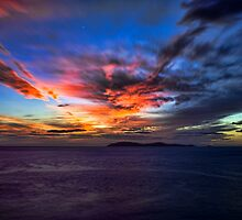 Sunset Over the Coronado Islands by Hugh Smith
