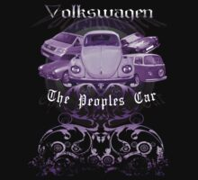 Volkswagen Tee Shirt: People's Car - Purple by KombiNation