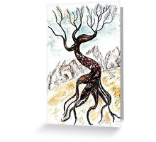 Dead Tree Sketch Greeting Card