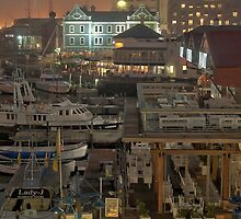 Boats and buildings by awefaul