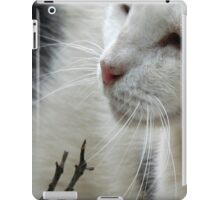 Close Up Of A Piebald Cat iPad Case/Skin