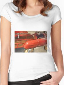 Fire Truck Pedal Car Women's Fitted Scoop T-Shirt