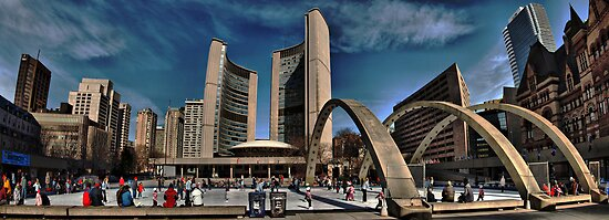 nathan phillips square by Brock Hunter