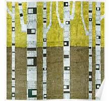 Fall Birches Poster