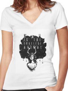 True Detective fan art Women's Fitted V-Neck T-Shirt