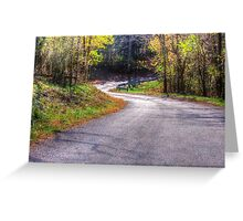 Curves In The Road  Greeting Card