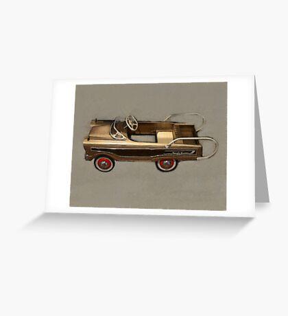 Ranch Wagon Pedal Car Greeting Card