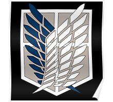 Attack on Titan Scouting Legion Logo  Anime Shingeki no Kyojin Anime t shirt  Poster
