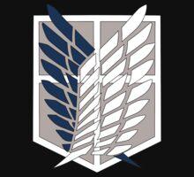 Attack on Titan Scouting Legion Logo  Anime Shingeki no Kyojin Anime t shirt  by GoRorooni