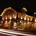 Lambertville Station at Night by Michael Bender
