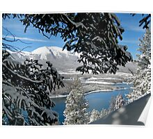Lake Dillon in Snow Poster
