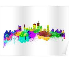 Boston USA Skyline Poster