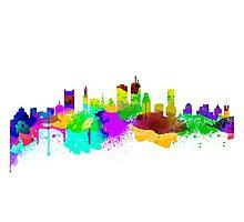 Boston USA Skyline Photographic Print