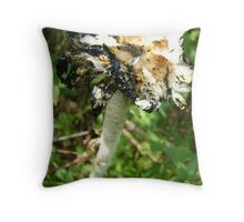 inky end Throw Pillow