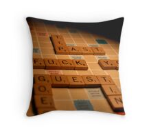 Triple Word Score Bitch Throw Pillow