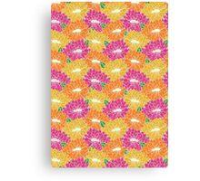 Paper Cut Floral Canvas Print