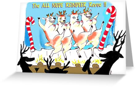 """The """"All Nude"""" Reindeer Revue!! by NOTORIOUSV-I-V"""
