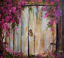 Door to my Garden in Acrylic by Esperanza Gallego