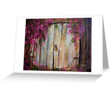 Door to my Garden in Acrylic Greeting Card