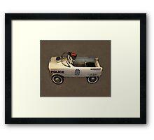 Police Pedal Car Framed Print