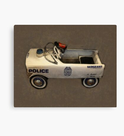 Police Pedal Car Canvas Print