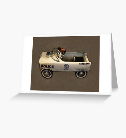 Police Pedal Car Greeting Card