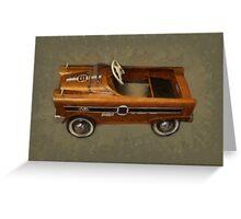 Super Sport Pedal Car Greeting Card
