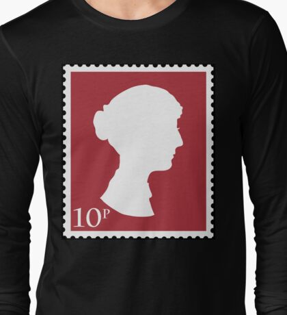 Jane Austen Stamp Long Sleeve T-Shirt