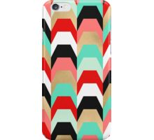 Stacks of Red and Turquoise iPhone Case/Skin