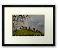 High on a hillside ... Framed Print