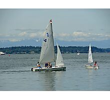 South Puget Sound Sailing Photographic Print