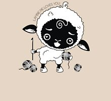 Custom color Lambie Pie sheep lamb crochet hook Womens Fitted T-Shirt