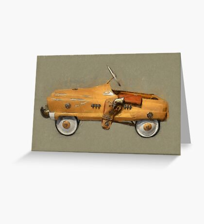 Roy Rogers Pedal Car Greeting Card