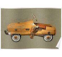 Roy Rogers Pedal Car Poster