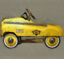 Taxi Cab Pedal Car by Michelle Calkins