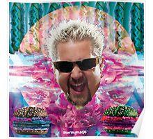 Guy Fieri's tropical BBQ blast Poster