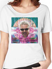 Guy Fieri's tropical BBQ blast Women's Relaxed Fit T-Shirt