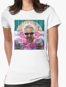 Guy Fieri's tropical BBQ blast Womens Fitted T-Shirt