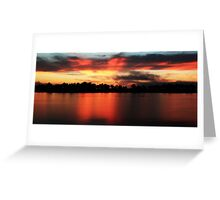 Sunrise at Webb lake Greeting Card