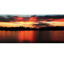 Sunrise at Webb lake Photographic Print