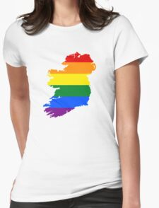 IRELAND GAY MARRIAGE PRIDE MAP Womens Fitted T-Shirt