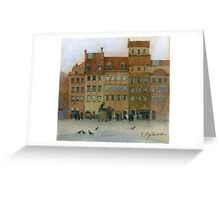 Warsaw square Greeting Card